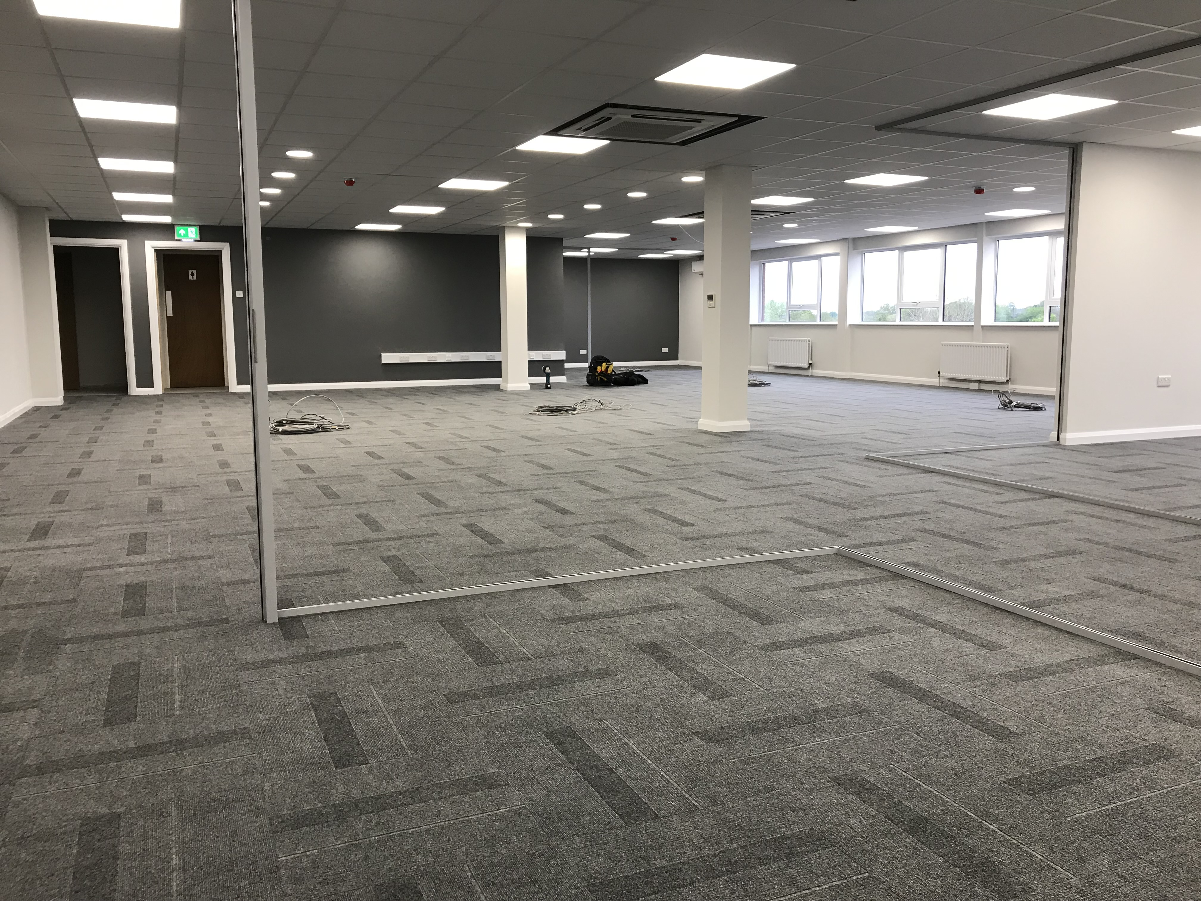 Office Power, lighting and communications Installation